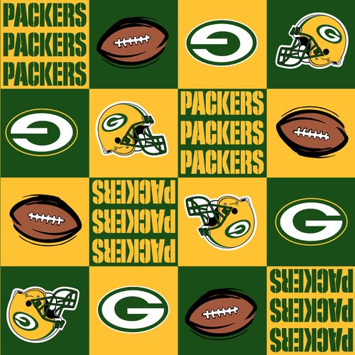 Nfl Green Bay Fleece Packers Fabric Per Yard Walmart Com Walmart Com