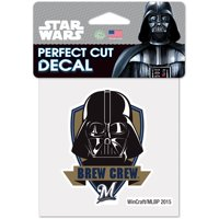 Milwaukee Brewers WinCraft 4'' x 4'' Perfect Cut Darth Vader Decal