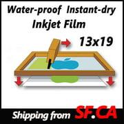 "13""x19"",50 sheets,Silk Screen Printing Waterproof Inkjet Transparent Film Paper"