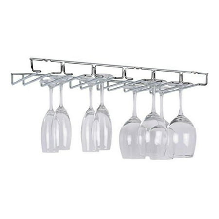 Large Chrome Stemware Holder - 1876W, Securely holds and protects delicate stemware By Organize It All