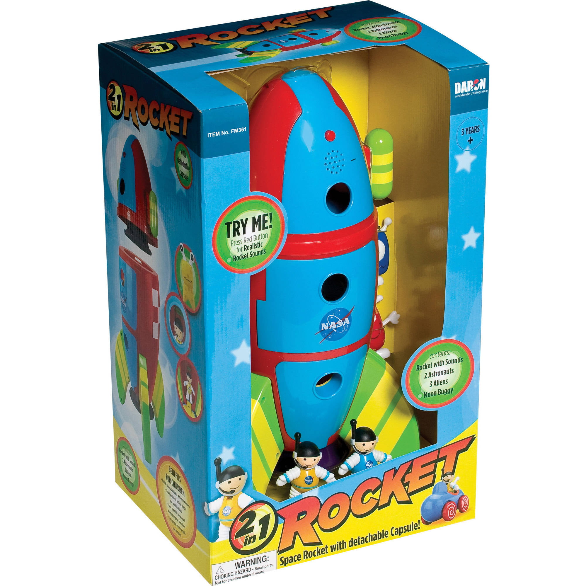 Daron 2-in-1 Space Rocket with Detachable Capsule by Daron