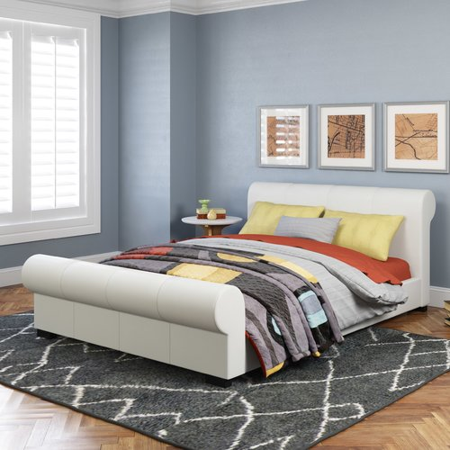 dCOR design San Antonio Upholstered Platform Bed