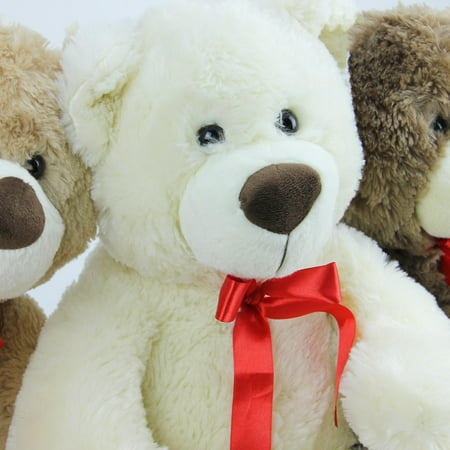 "Set of 3 Brown, Tan & Cream Plush Children's Teddy Bear Stuffed Animal Toys 20"" - image 1 of 2"