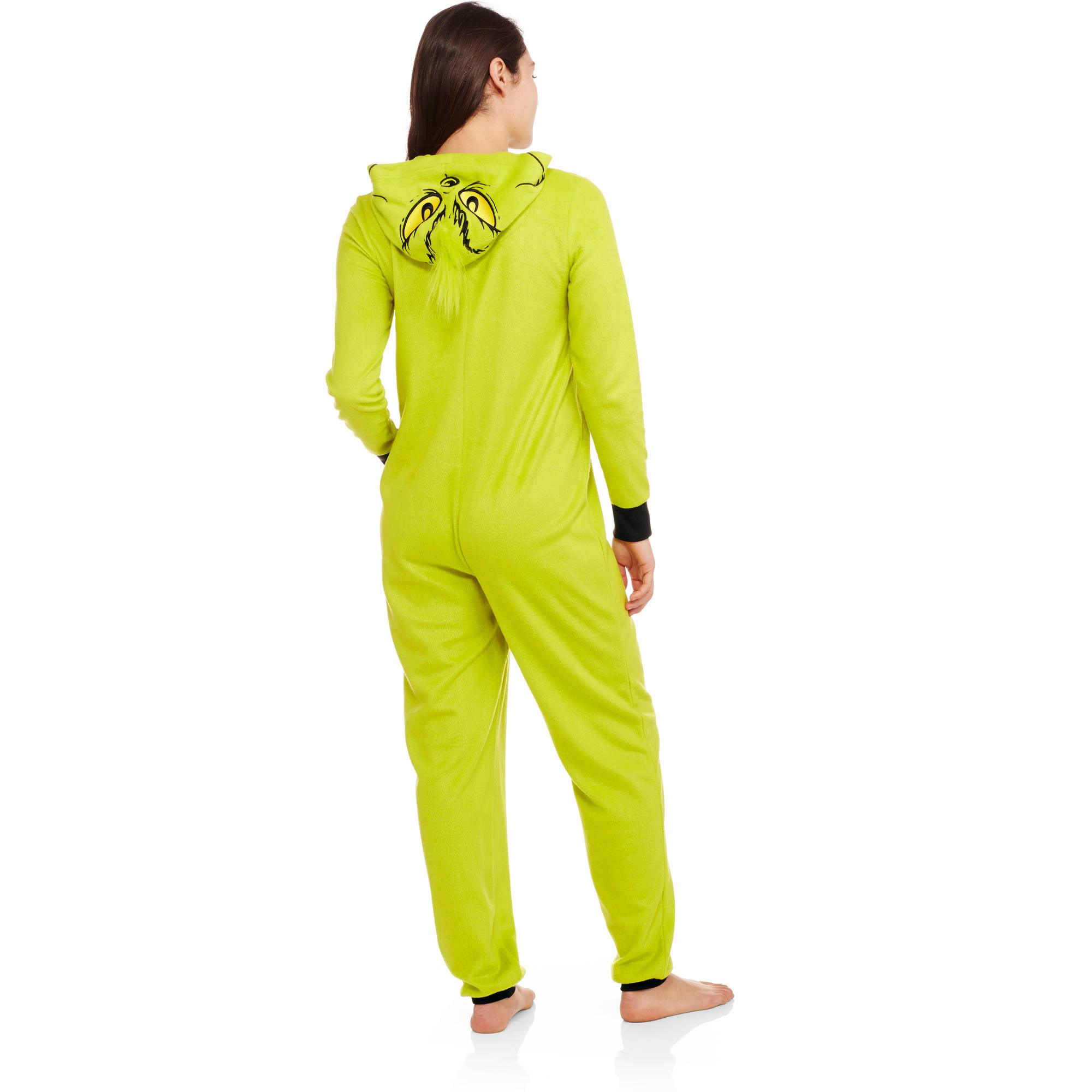 60027338e Licensed - Grinch Women s Sleepwear Adult Onesie Costume Union Suit ...