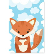 Awkward Styles Fox in Clouds Poster Art Little Fox Poster Decor Baby Girl Room Decoration Baby Boy Play Room Wall Art Ready to Hang Artwork for Kids Fox Poster Illustration Fox Nursery Baby Room
