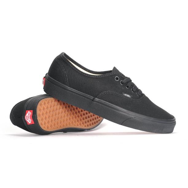 Vans Authentic (Black/Black) Men's Skate Shoes-14