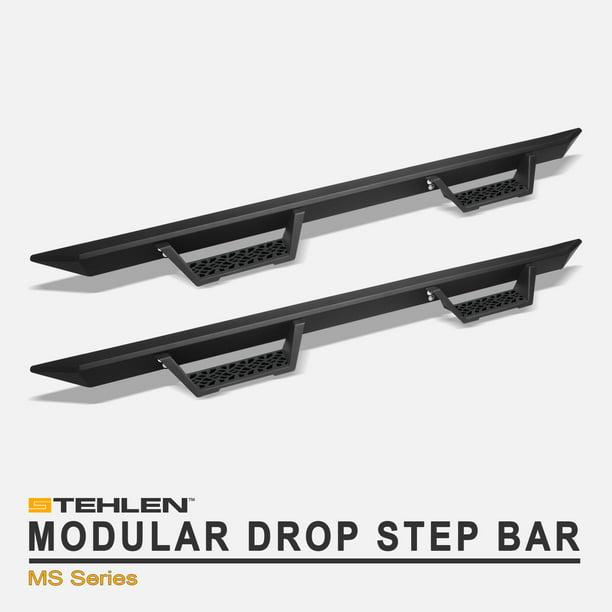 Cab Matte Black For 2002-2008 Dodge Ram 1500//2003-2009 2500 3500 Quad Crew Stehlen 733469494492 Modular Drop Step Side Nerf Bars Rail Running Boards