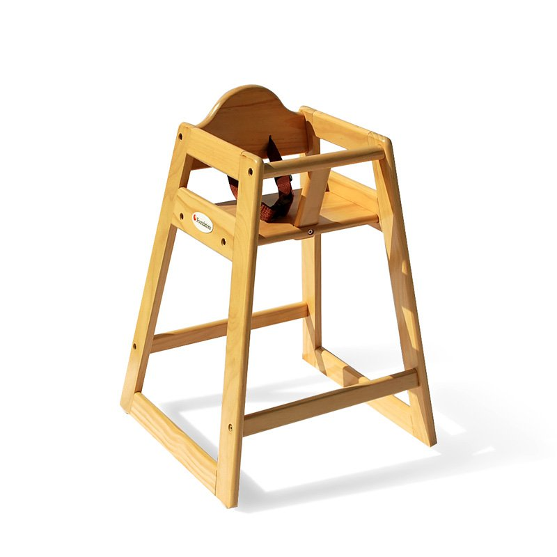 Foundations Classic Wood Hardwood High Chair - Natural