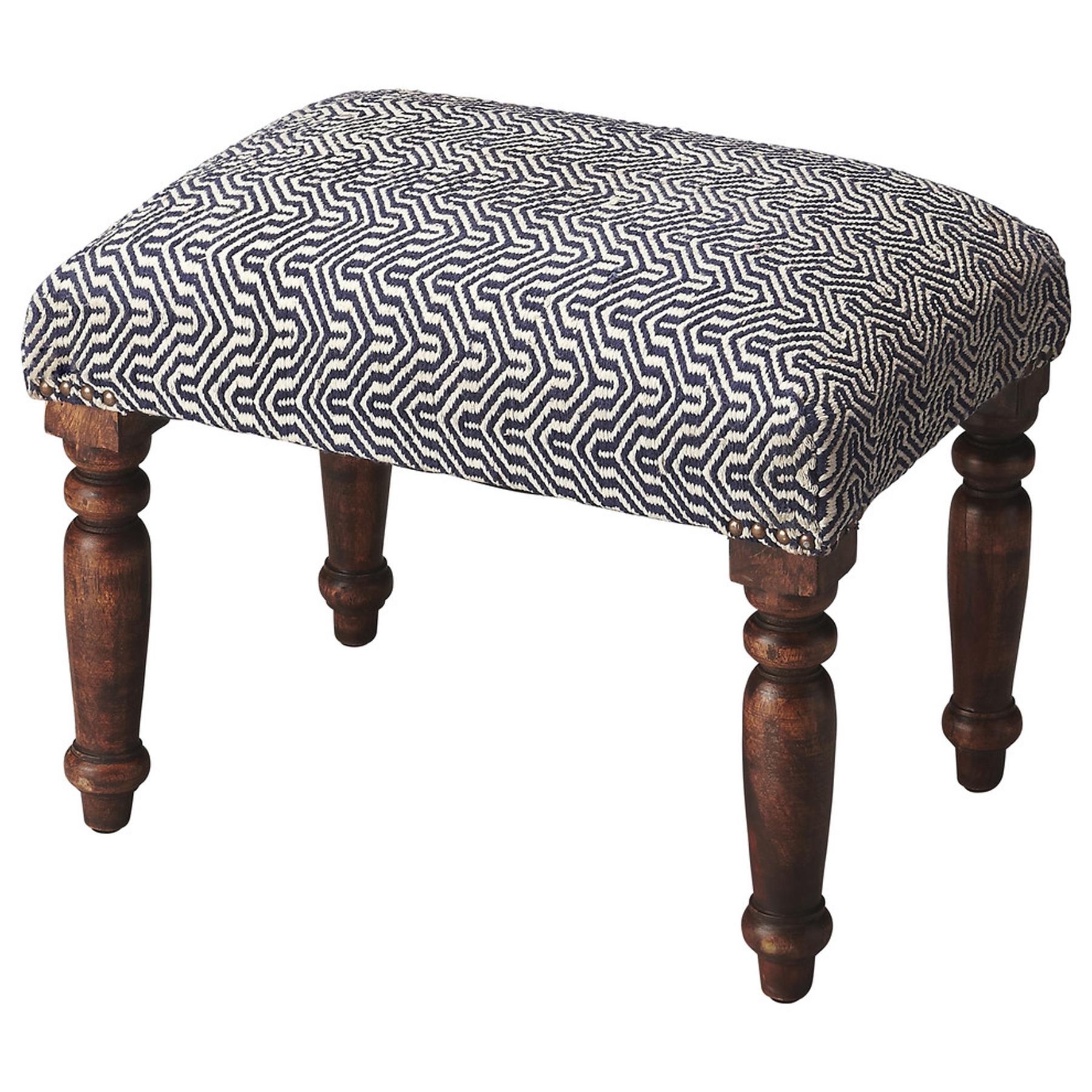 Butler Manto Cotton Upholstered Stool