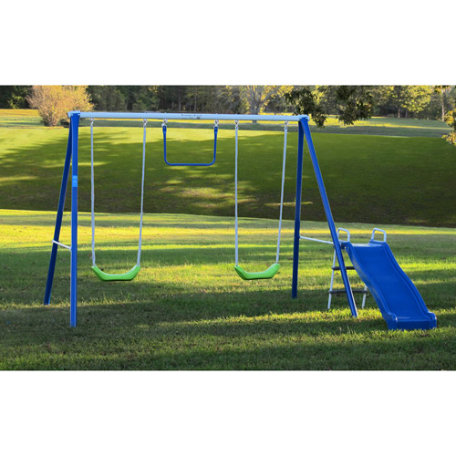Flexible Flyer Fun Time Fun Metal Swing Set   Walmart.com