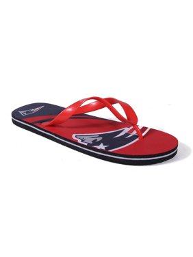 16c1b51417d94 Product Image Happy Feet Mens and Womens New England Patriots Big Logo Flip  Flop