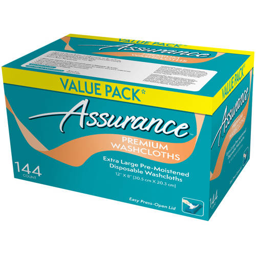 Assurance Premium Washcloths, Extra Large, 144 count