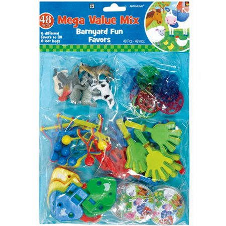 Barnyard Farm Animals Favor Pack (48pc)