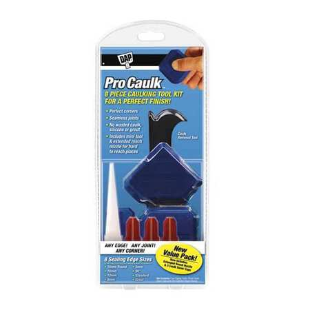 DAP 09125 Caulk Finishing Tool,Plastic,Blue G4595775