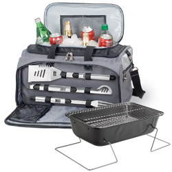 Picnic Time 750-00-175 Buccaneer 2-in-1 Tailgating Cooler & Grill