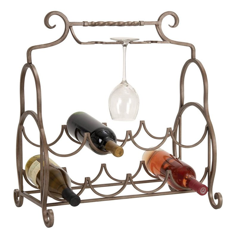 Aspire Home Accents Metal Counter Top Wine Rack