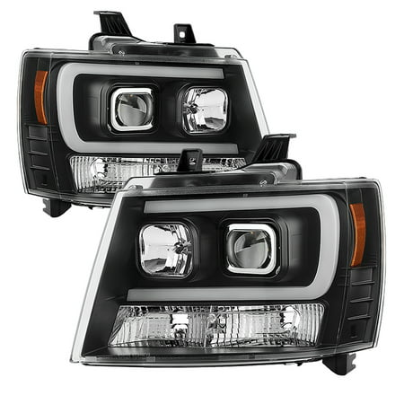 Spyder Chevy Suburban 1500/2500 07-14 / Chevy Tahoe 07-14 / Avalanche 07-14 Version 2 Projector Headlights - High H1 (Included) - Low H7 (Tahoe Two Light Chain)