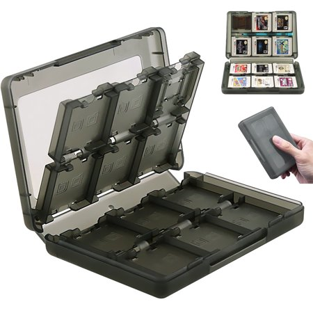 28 in 1 Black Plastic Game Card Case Holder Box Storage Cartridge for Nintendo 3DS/DS/DSI[ Black ]