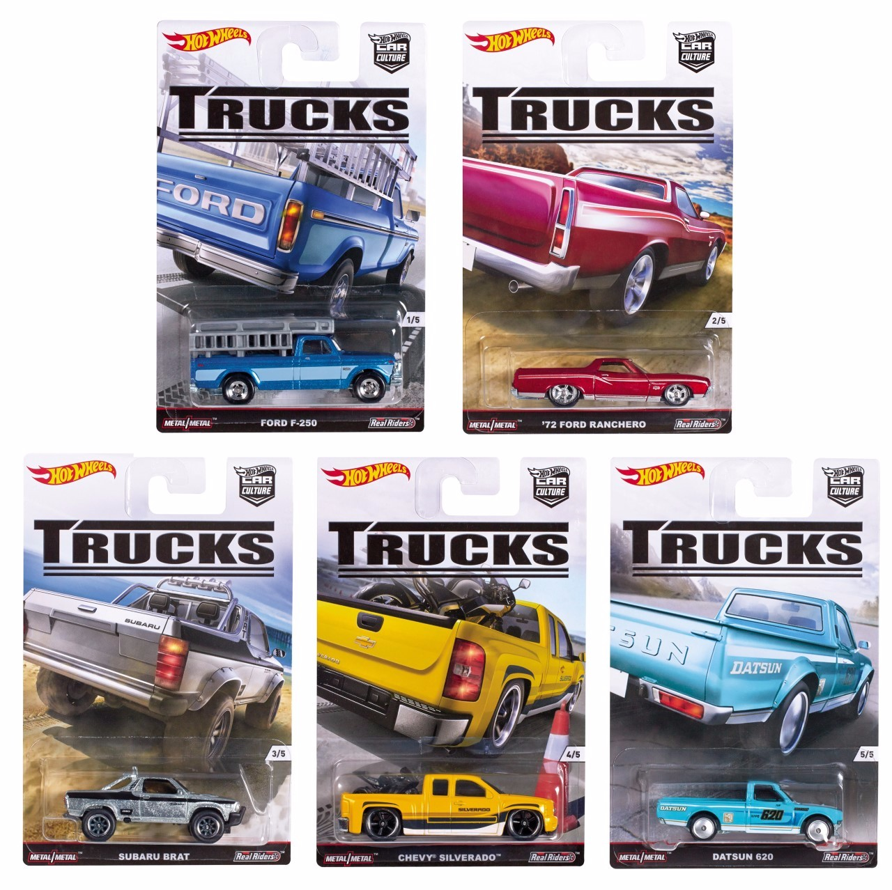 Hot Wheels 2016 Car Culture Trucks Set of 5 1 64 Scale Collectible Die Cast Toy Model Trucks by
