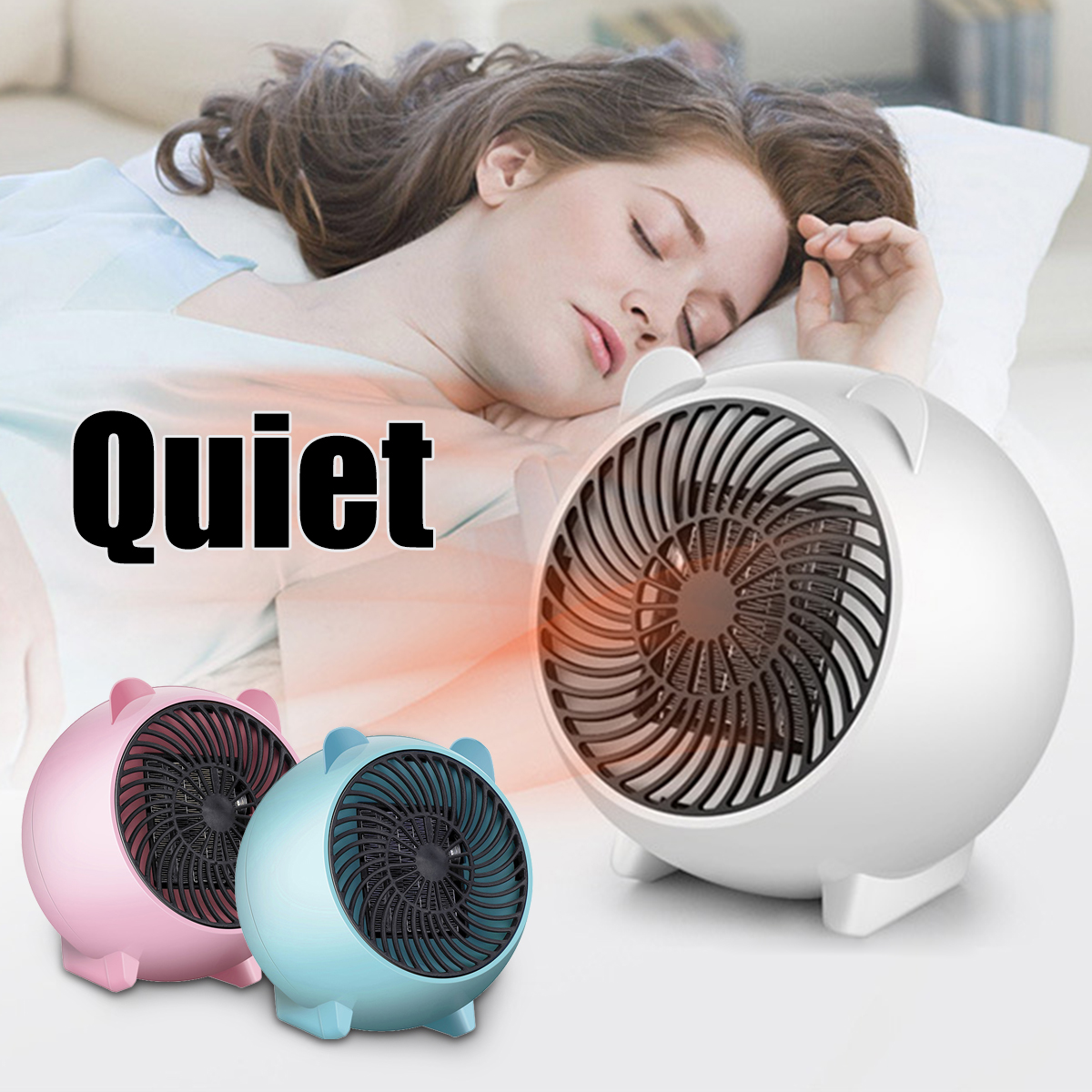 Portable Electric Heater Space Automatic Heating Fan Warmer Air Blower Quiet Home Office 250W 110V US plug Winter Heater Bask Fan