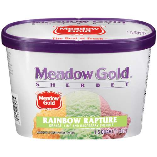 Meadow Gold Rainbow Rapture Sherbet, 48 oz