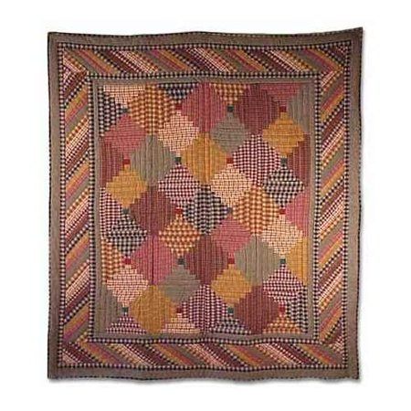 Patch Magic Harvest Log Cabin Throw 50  X 60