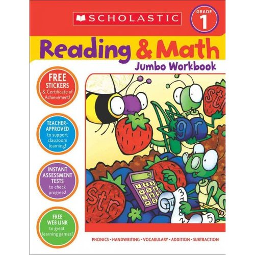 Scholastic Reading & Math Jumbo Workbook Grade 1