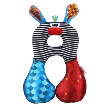Baby Kid Toddlers U-shaped Pillow Soft Cartoon Travel Car Safety Seat Neck Support Pillow Headrest Cushion For 1-6 Years Donkey