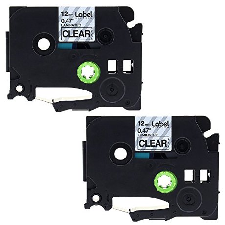Office 2 Pk Tze-131 Tz131 Compatible For Brother P-touch Label Tape Black On Clear New Non-Ironing