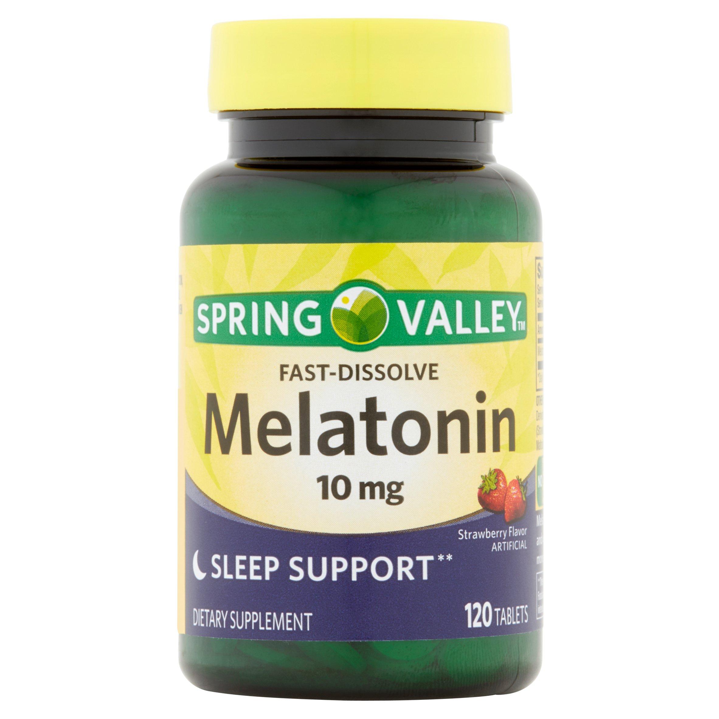 Spring Valley Melatonin Fast Dissolve Tablets, 10 mg, 120 Ct