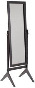 Legacy Decor Espresso Finish Wood Rectangular Cheval Floor Mirror, Free Standing Mirror by
