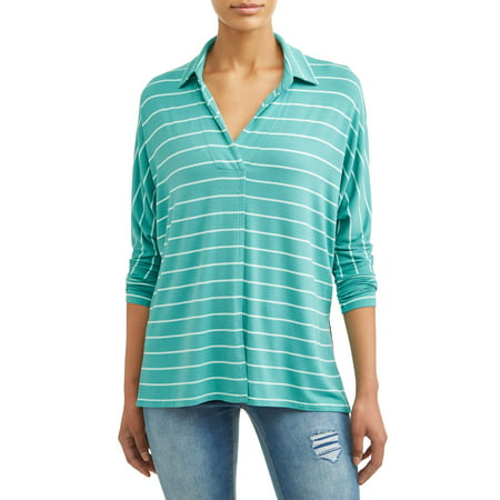 - Women's Soft Knit Popover Top