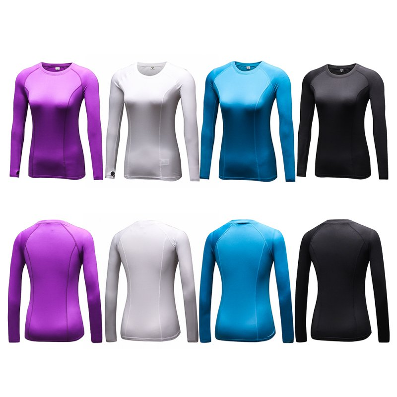 Fast Dry Women Compression Base Layer Tight Tee Shirt Gymnastic Yogo Cycling Top by