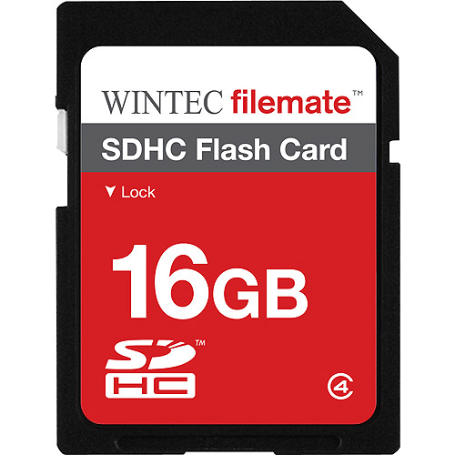 Wintec FileMate 16GB SDHC Secure Digital Flash Memory Card