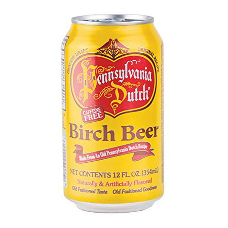 Birch Beer (PA Dutch Birch Beer, Protected With High-Density Foam, Favorite Amish Drink, 12 Oz. Cans (Case of 24) )