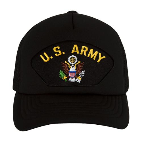 U.S. Army Eagly Symbol Black Trucker Hat
