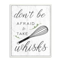 The Stupell Home Decor Collection Kitchen Take Whisks! Wall Plaque Art