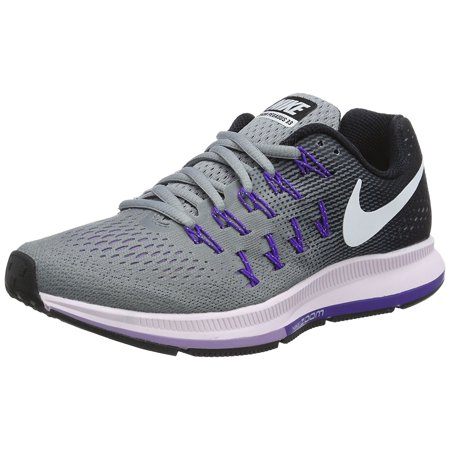 Nike Womens Air Zoom Pegasus 33 Running Shoe, StealthWhite-Black, ...