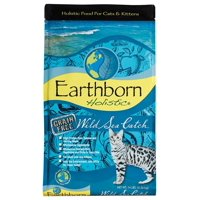 Earthborn Holistic Grain-Free Wild Sea Catch Salmon & Herring Natural Dry Cat Food, 14 lb