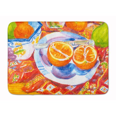 Florida Oranges Sliced for breakfast Machine Washable Memory Foam Mat