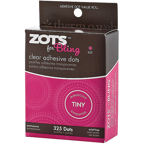Zots Clear Adhesive Dots, Tiny Bling, 325pc