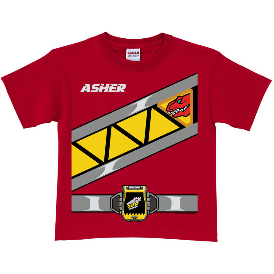 Personalized Power Rangers Boys' Red Ranger T-Shirt - Dino Charge