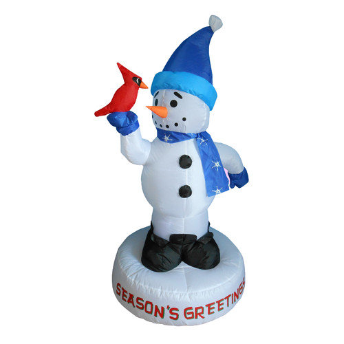 BZB Goods Christmas Inflatable Snowman with Bird Decoration