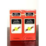 Pack of  24 Spice Supreme Imitation Vanilla Extract 2 fl oz. #30930