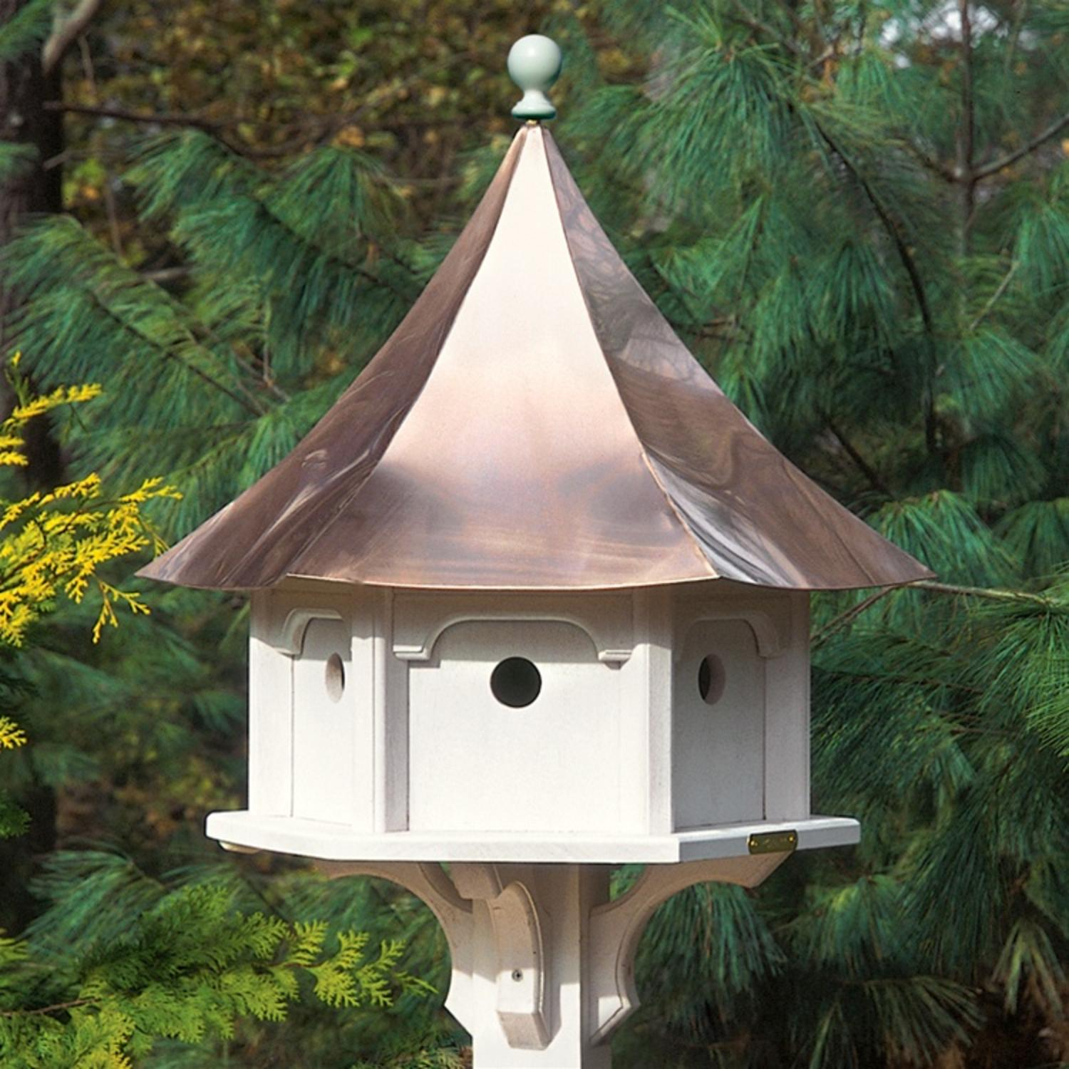 """25"""" Outdoor Enchanted Polished Copper Carousel Garden Birdhouse by CC Home Furnishings"""
