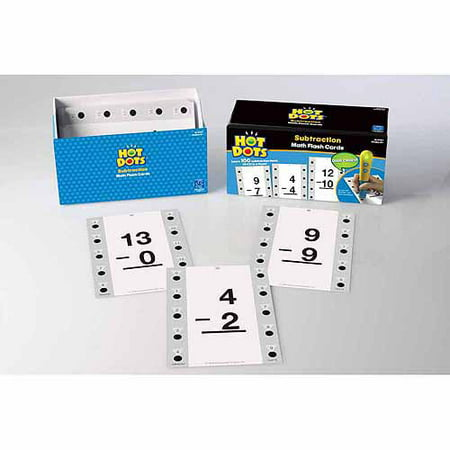 Educational Insights Hot Dots Math Flashcards, Subtraction