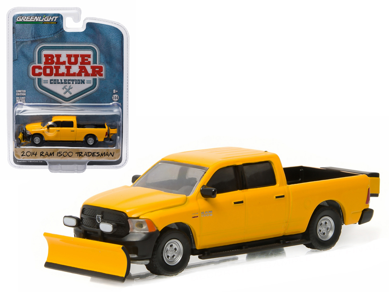 2014 Dodge Ram 1500 Pickup Tradesman Construction w  Snow Plow & Salt Spreader Blue Collar... by Snowplows