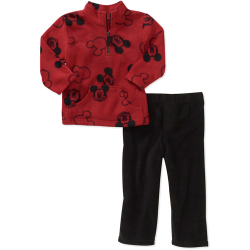 Disney Baby Boys' Mickey Fleece Mock Top and Pants Set