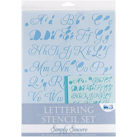 Blue Hills Studio- Lettering Stencil 4pc Set, Error-free tool By Alvin & Company