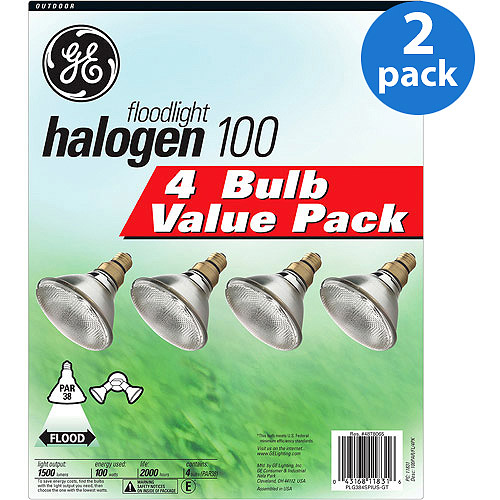 GE Halogen 100wt Outdoor Flood - 8 bulbs